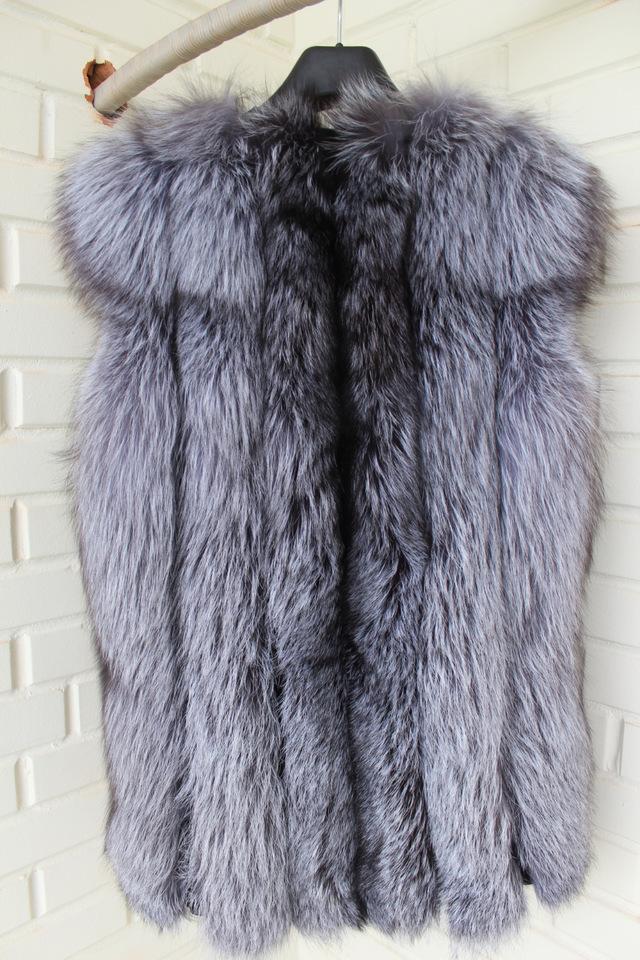 Мода зима чернобурки меховой жилет жилет жилет меха для женщин Большой размер индивидуальные BF-V0023