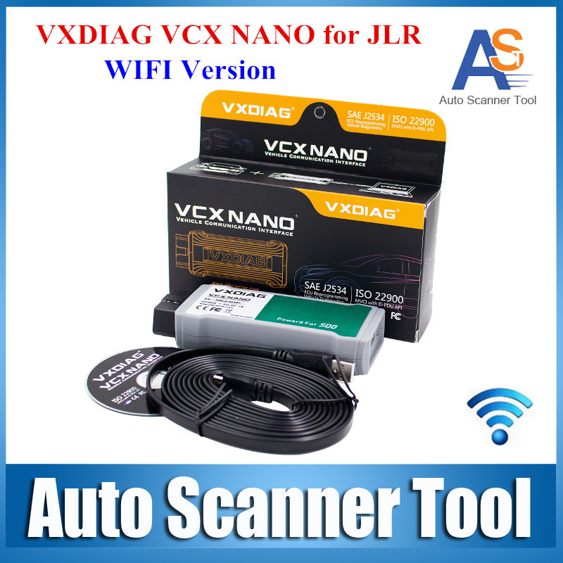 DHL Free Shipping VXDIAG VCX NANO for Land Rover/Jaguar 2 in 1 Wifi Version Software SSD V141 VXDIAG for JLR for All Protocols(China (Mainland))