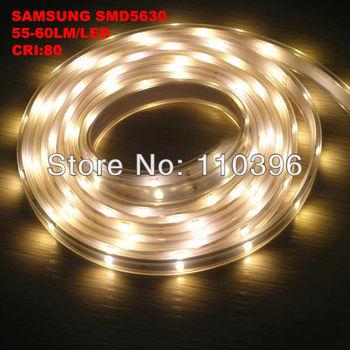 samsung 2000lm warm white high lumen  smd 5630 led strip waterproof ip67 silicone tube,5m/roll