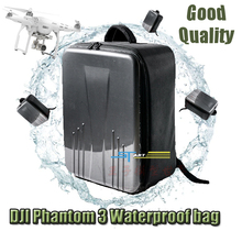 Wholesale 10 pcs/lot DJI phantom waterproof backpack bag Carton Fiber for DJI phantom 3 professional & advanced drone quadcopter