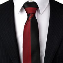 Slim tie - Woven Jacquard silk in solid black - Notch SOLID Black Notch mf6pq72d