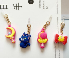 Hot Sell Valuable Cute Sailor Moon Phone Anti Dust Plug Cell Phone Accessories For Iphone4 5 6 3.5mm Earphone Jack Plug(China (Mainland))