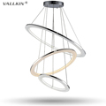 Modern Pendant Lights for Living Room Dining Room 3 Circle Rings Acrylic Shape Indoor LED Lighting