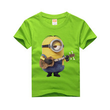 Fashion Summer Short Sleeve Unisex Despicable Me Minion Girl Cartoon Baby Character Print Tops Boys T