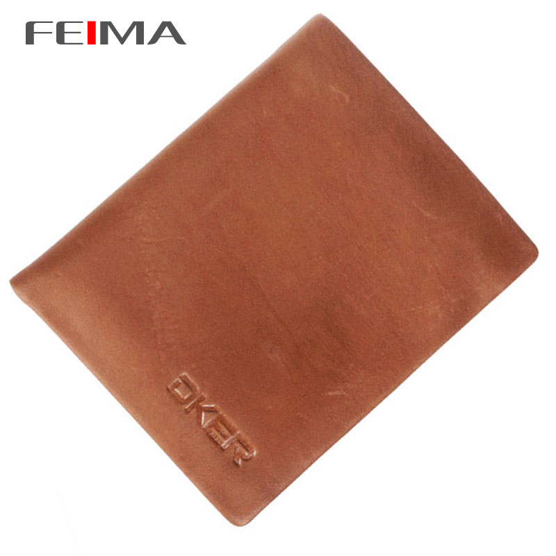 FEIMA! New Arrivals Vintage Purse Men Wallets Brand Cowhide Mens Wallet Genuine Leather Male Short Thin Clutch Purses 162209<br><br>Aliexpress