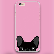 Boston Terrier cute black dog in pink Design case cover cell mobile phone cases for iphone 4 4s 5 5c 5s 6 6s 6plus hard shell