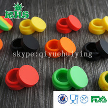 Matte surface non stick 6ml silicone wax container, 35*20mm silicone oil jar(China (Mainland))