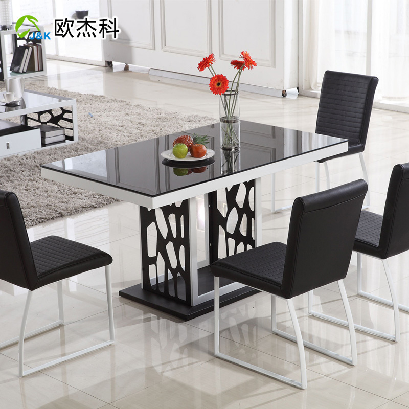 Ke Tempered Glass Dining Table Dining Table Modern Minimalist Small