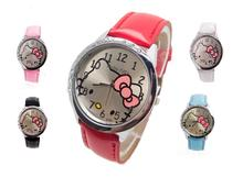 Buy Wholesale women girl hello Kitty wristwatches ladies fashion leather quartz watch women watches 12015053015 for $2.49 in AliExpress store