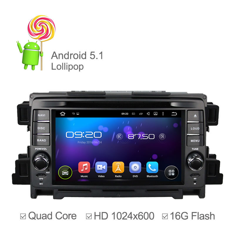 1024*600 Android 5.1 Car DVD Player For Mazda CX-5 Mazda CX5 GPS Capacitive Screen Stereo Car Radio Support Mirrorlink 3G Ipod(China (Mainland))