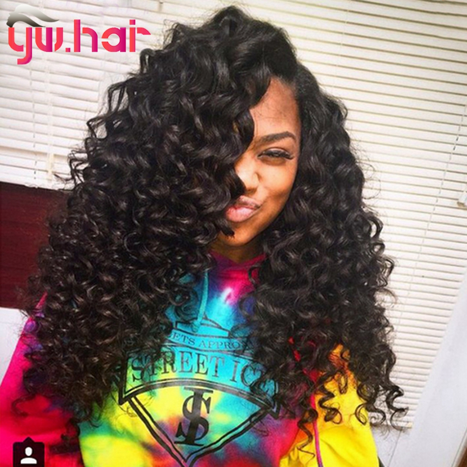 Virgin Peruvian Deep Wave With Closure 3 Bundles Peruvian Virgin Hair With Closure Unprocessed Human Hair Bundles With Closure<br><br>Aliexpress