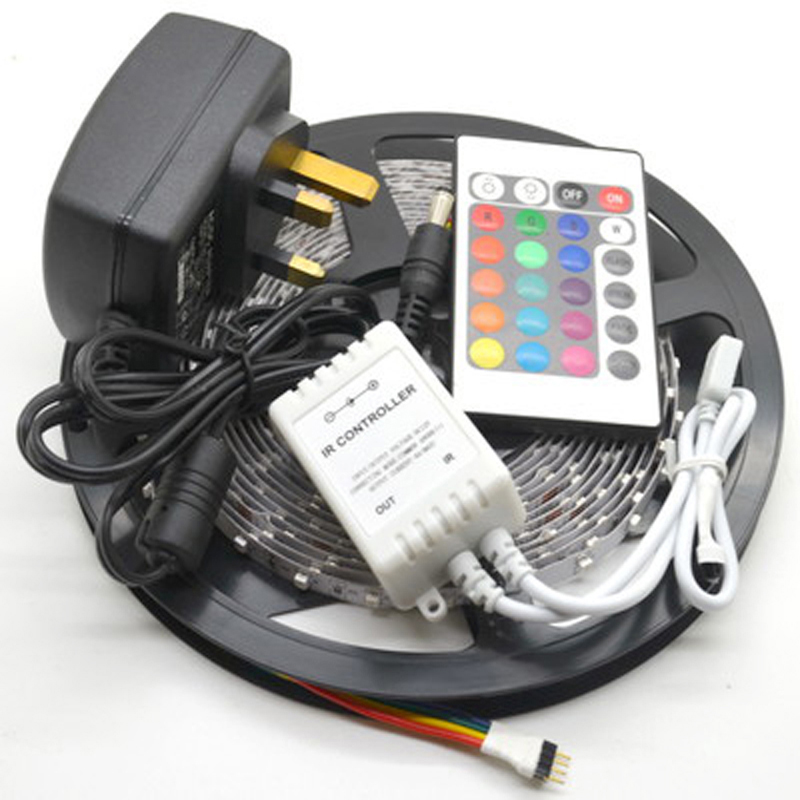5M 3528 Non-Waterproof SMD LED Strip 300 leds 5m 3528 rgb led +24keys controller+12v2a Power adapter(China (Mainland))