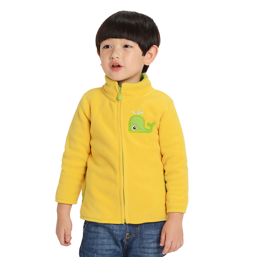 Svelte Brand Fall Autumn Winter Boys Girls Kids Cartoon Embroidery Fur Coat Fleece Jacket Clothes Children Sweatshirts Jersey(China (Mainland))