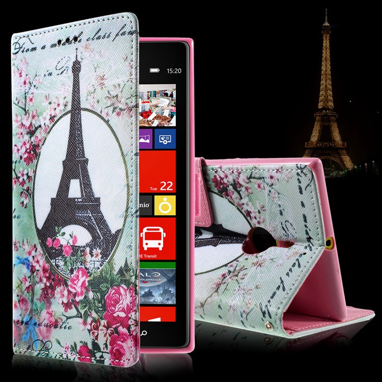 For Nokia Lumia 1520 Case Cartoon Pattern Card Holder PU Leather Wallet Flip Cover Case For Nokia Lumia 1520 Inner TPU Case(China (Mainland))