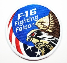 Buy Embroidery F16 Fighting Falcon Patches 3D Tactical Patch Combat Eagle Armband Hook loops Military Morale Badge 2pcs for $8.56 in AliExpress store