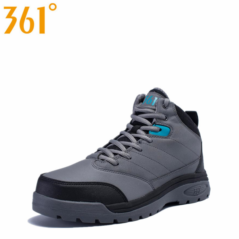 361 Mens Winter Thermal Damping High Upper Basketball Shoes Leather Fleece Inside Anti-Slip Outdoor Sneakers  571441125AQ1W14<br><br>Aliexpress
