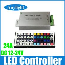24A 44 teclas de control remoto IR RGB led controlador dc 12 V - 24 V para 5050 / 3528 llevó la tira WLED75(China (Mainland))