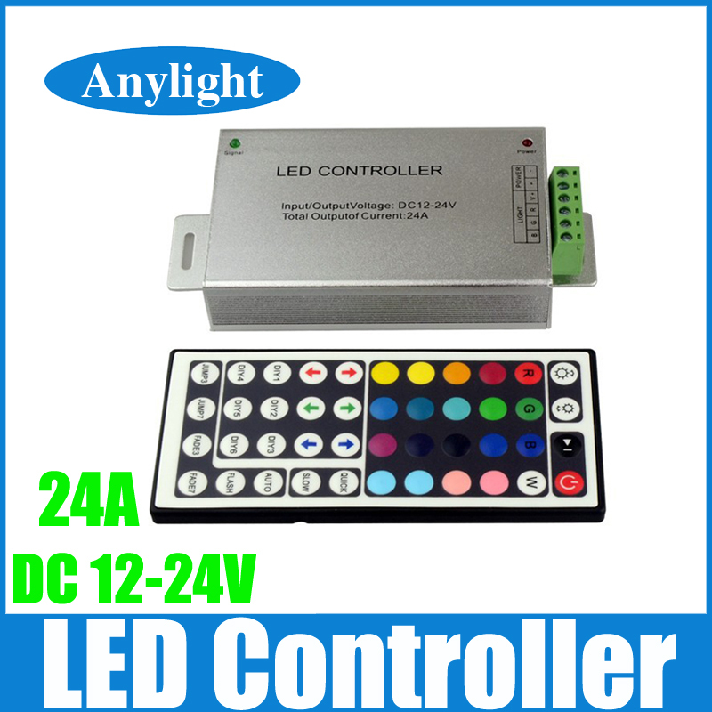 24A 44 keys IR remote control RGB led controller dc 12V-24V for 5050 / 3528 led strip WLED75(China (Mainland))
