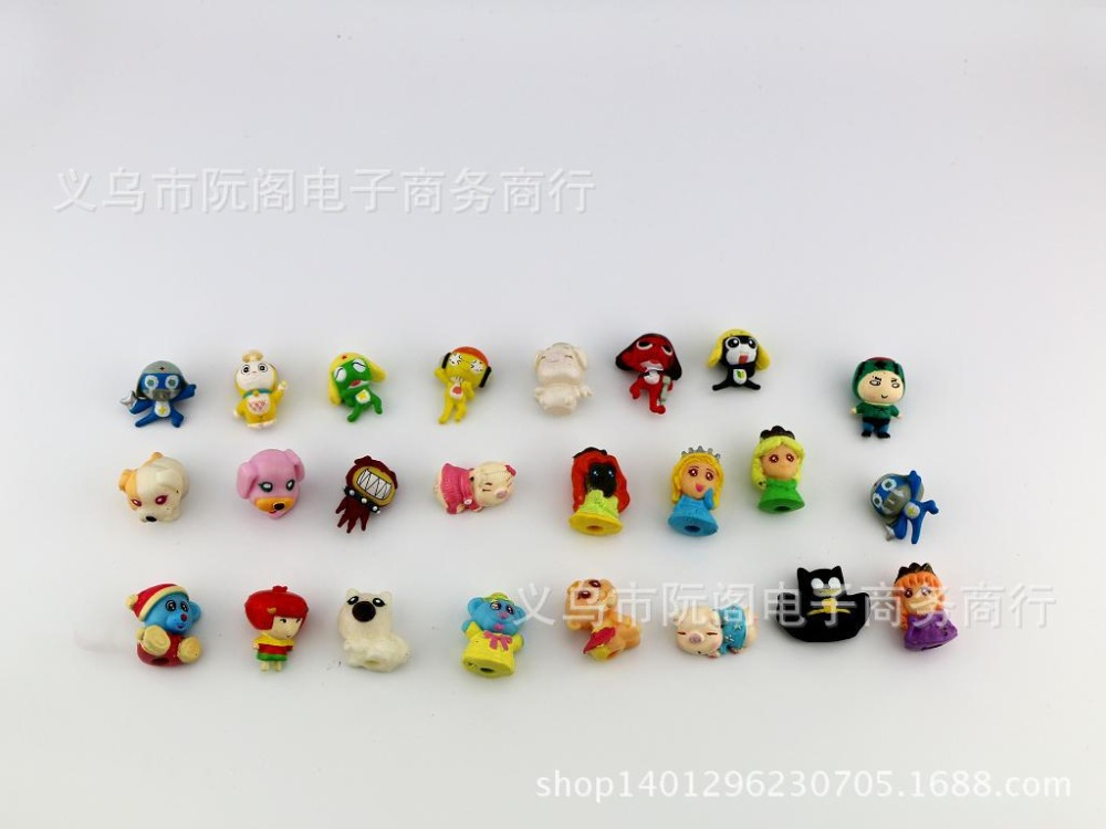 2016 new 2.8cm Gashapon egg action figures kawaii diy pvc doll mini soft toys China Cheap toys for children hot sale(China (Mainland))