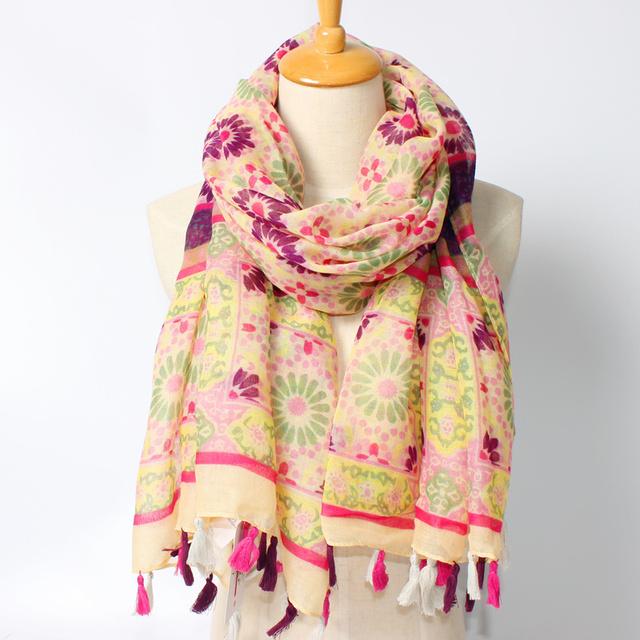 2016 новое поступление зима мода для женщин бренд дизайн геометрический богемия стиль длинный шарф 180 см обернуть