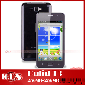 """PULID T3 4G ROM 4.5"""" screen MTK6572 single core android phone with  800x 480 Screen  cell phones"""