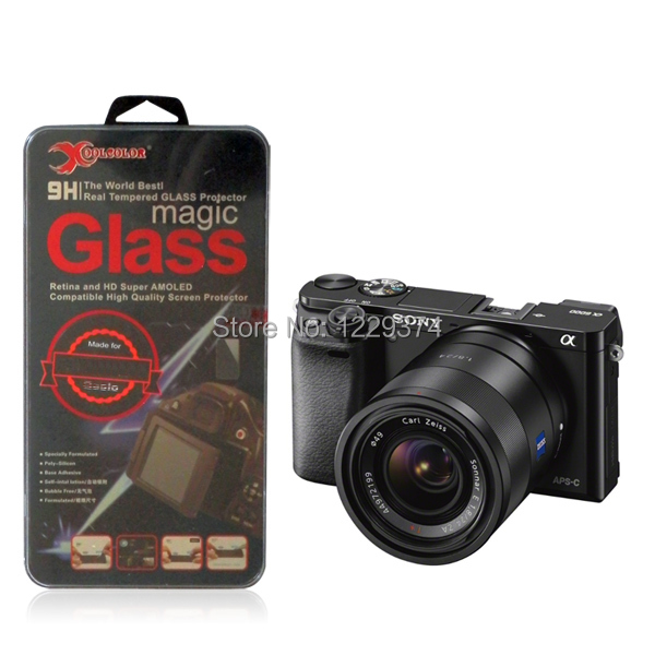 2.5D Round Edge 9H Real Tempered Glass Screen Protector 0.3mm for Sony Alpha a6000 ILCE-6000 Digital Camera ShatterProof Film(China (Mainland))