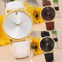 2015 Best selling! fashion Women Retro Design Leather Band Alloy Quartz Wristwatches Classic Simple Lady Clocks