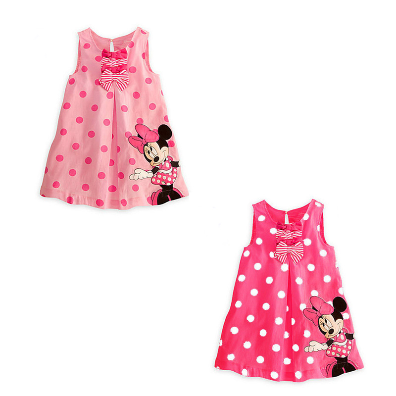 Wholesale 1-5Y New 2016 Summer Girl Dress Mouse Dress For Girls Printed Party Dress For Children Kid Polka Dot Baby Girl Clothes<br><br>Aliexpress