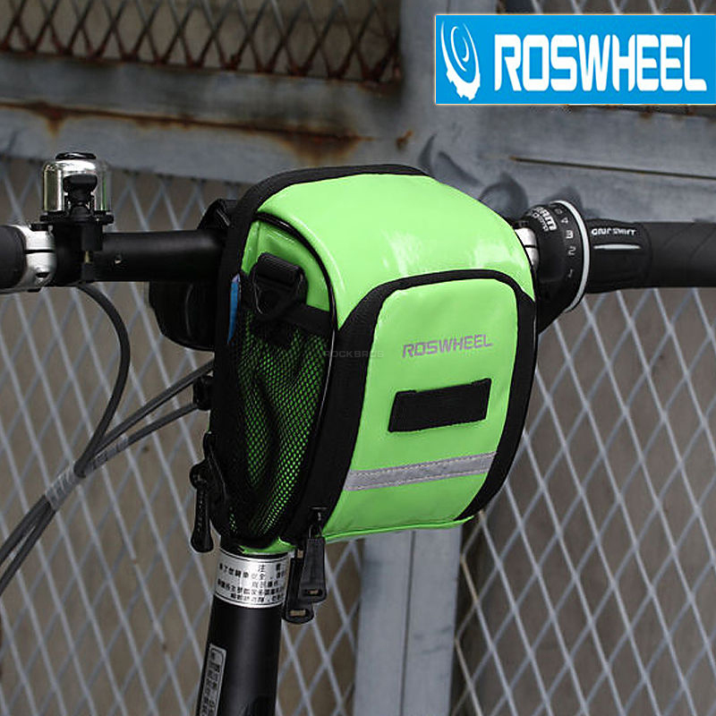 ROSWHEEL MTB Mountian Bike Road Bike Handlebar Waterproof Bag Bicycle Front Bag PU Leather Bicycle Accessories 4Colors New(China (Mainland))
