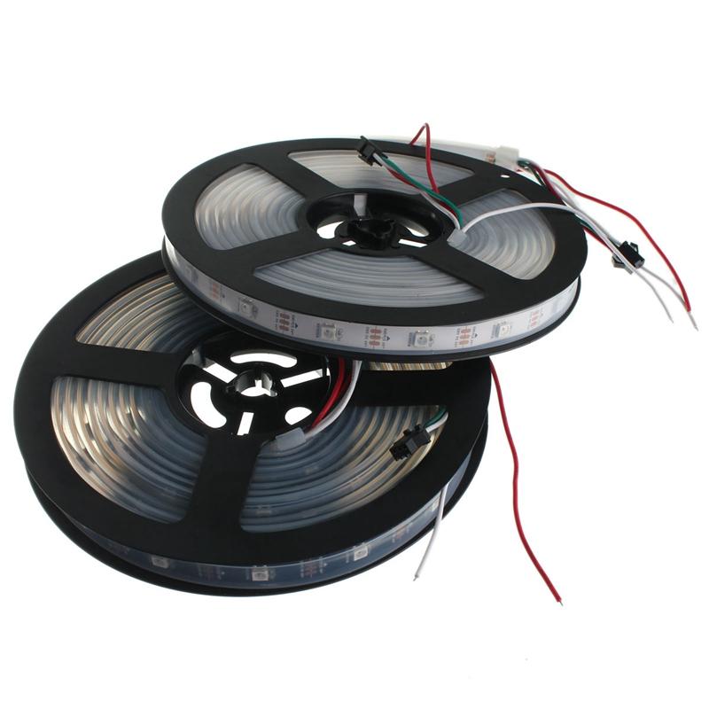 Best Promotion WS2812B 5050 RGB LED Strip Light Lamp Waterproof/ Non Waterproof Individual Addressable DC5V