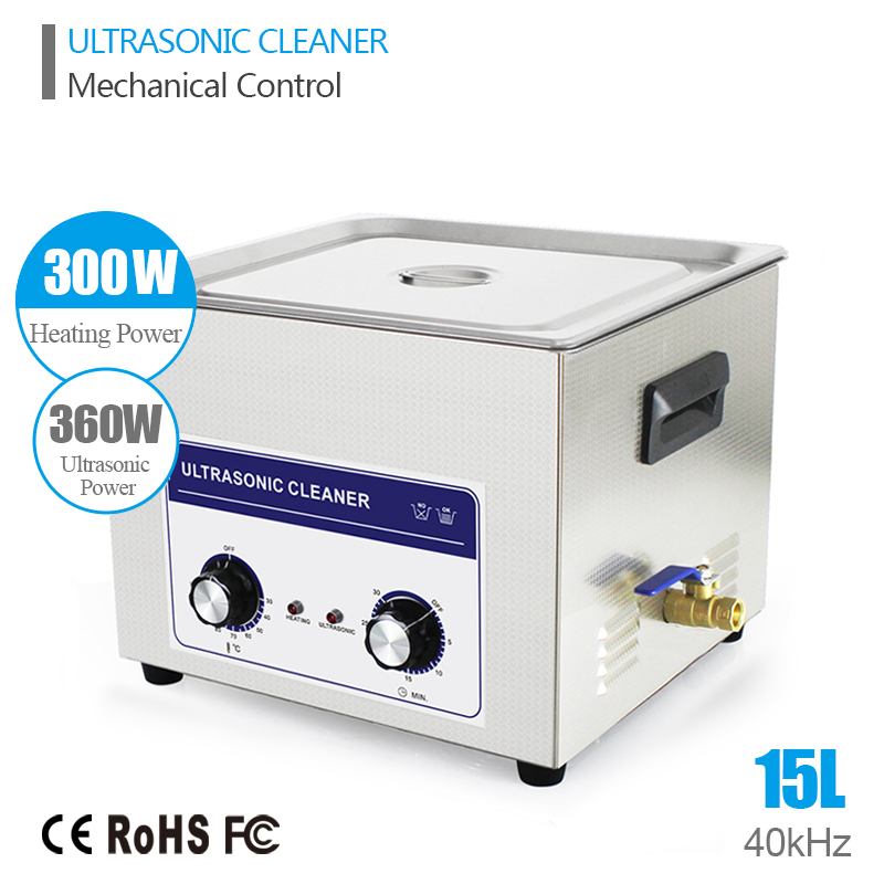 Ultrasound Injector Cleaning Transducer Machine Industrial Ultrasonic Cleaner 360W 40kHz 15L Ultrasonic Generator Cleaner Bath(China (Mainland))