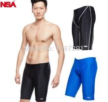 NSA classic black sharkskin swimming swim jammer water repellent swimming trunks for men Sport shorts men swimwear