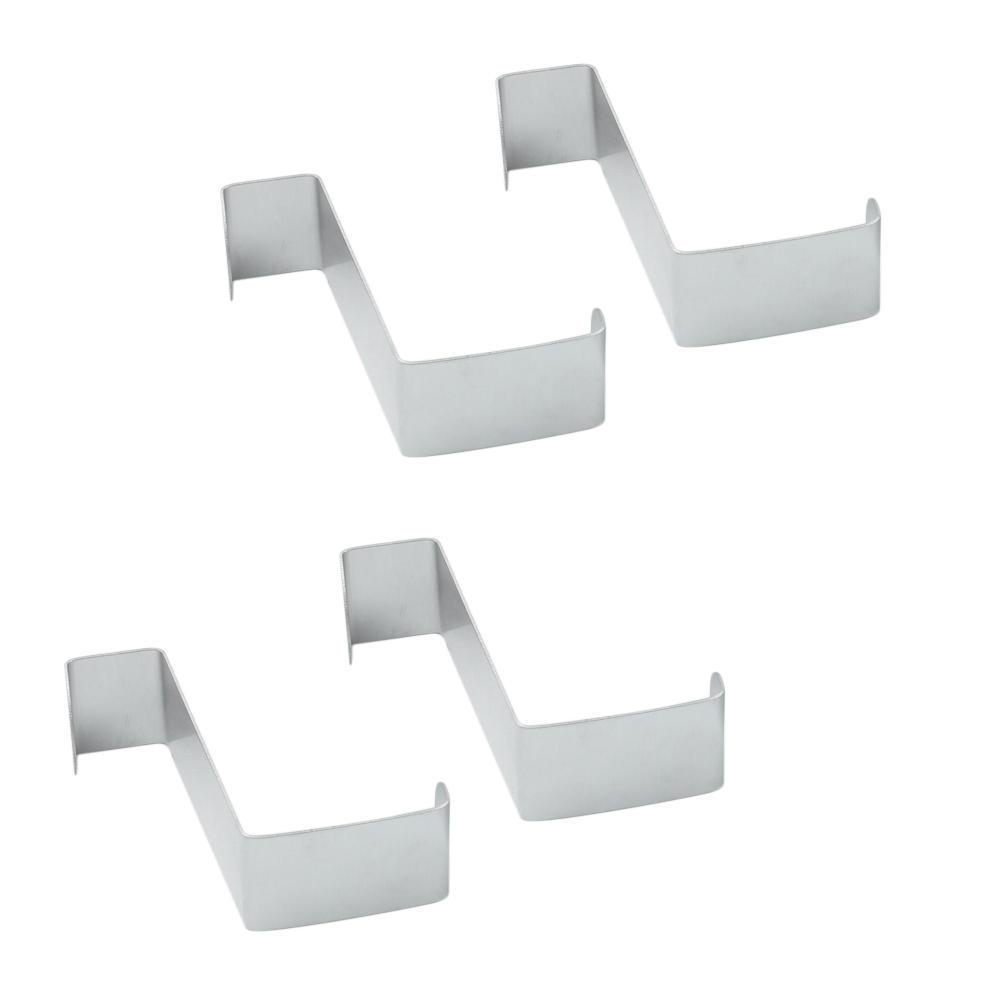 4pcs/lot Stainless Steel Over Door Cupboard Hooks Towel Coat Hat Bag Clothes Hanger Holder Home Kitchen Bathroom Organizer Rack(China (Mainland))