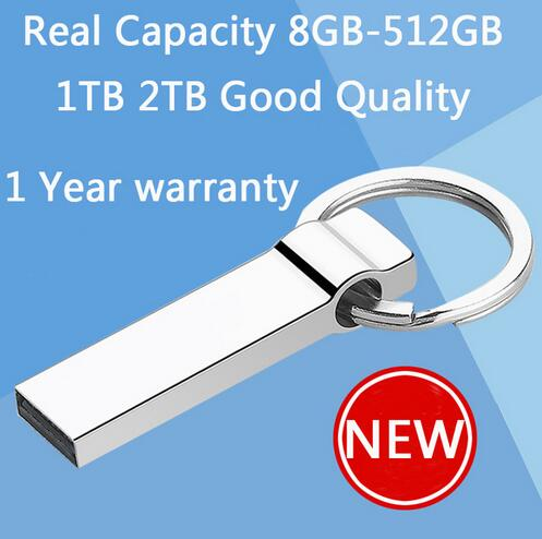 100% Real Hot Metal Key Chain 64GB Mini USB Flash Drive 128GB 32GB Pen Drives 16GB 1TB Pendrive Memory Stick Disk On Key 512GB(China (Mainland))