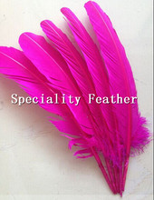 Buy Free 10pcs wholesale 25-30cm Fuschia color real natural turkey feathers plumes hair extensions goose feather sale for $2.93 in AliExpress store