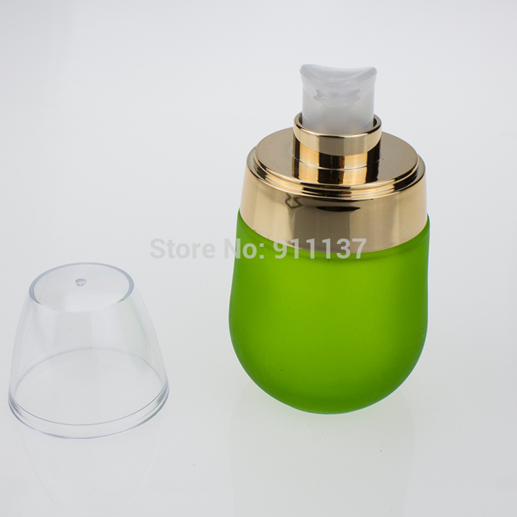glass containers for cosmetics , green 30ml glass cream bottles , green glass bottles suppliers(China (Mainland))