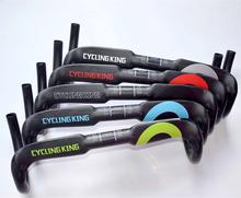 2015 new arrival top full carbon fiber road handlebar bicycle handlebar bent bar ud finish 3 color 400/420/440mm