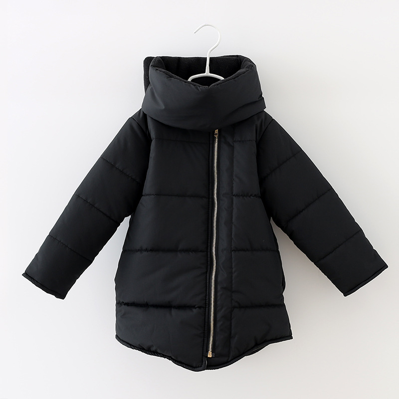 New 2015 Winter Candy Color Girl's Down&Parkas Warm Cotton Kids Fashion Jackets New Brand Long Sleeve Woolen Cloth For Children