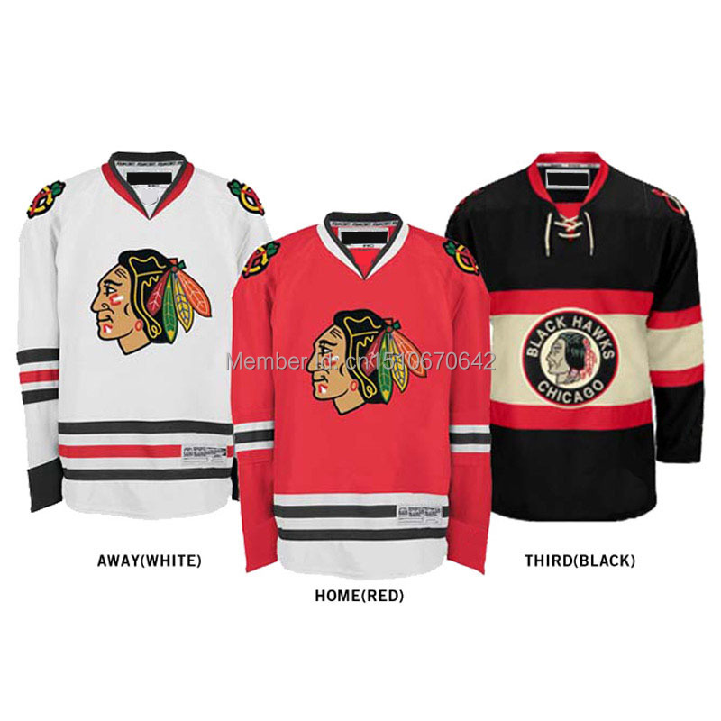 Custom chicago blackhawk jerseys hockey jerseys cheap Home/Away/Alternate Jersey Embroidery Logo Sew on Any Name &amp; Number YS-6XL<br><br>Aliexpress