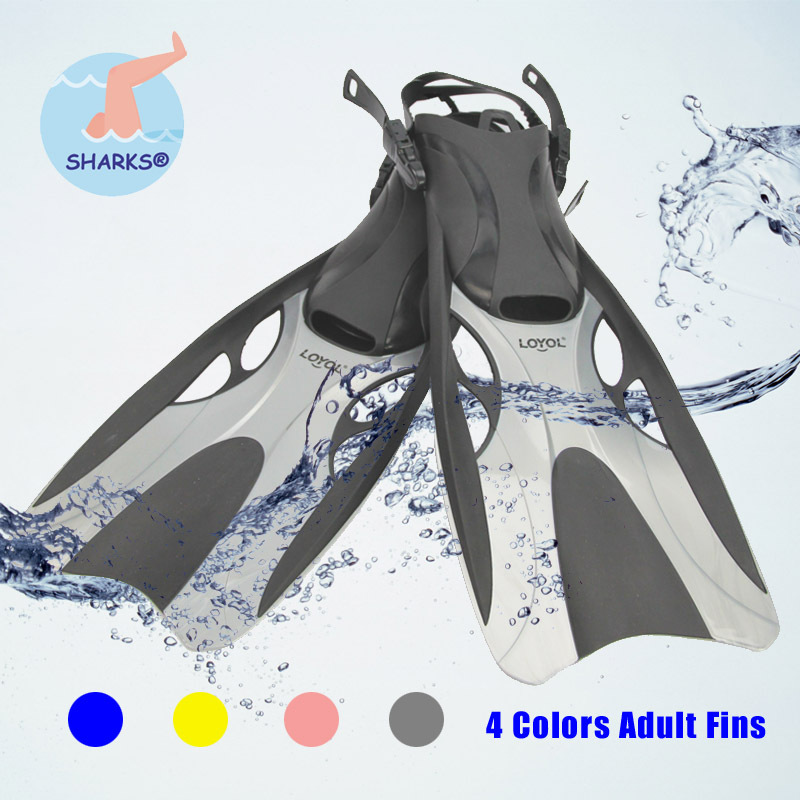 Adult Men Women Adjustable Submersible Silicone Long Swimming Flippers Swimming Diving Fins 4 Colors 2015 New aletas(China (Mainland))