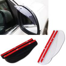 2pcs Universal Rear View Side Mirror Rain Board Sun Visor Shade Shield Flexible Protector For Car Truck Suv Car Styling FISHBERG(China (Mainland))