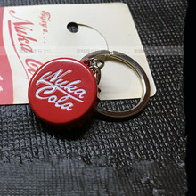 Fallout 4 keyrings Pip Boy Nuka Cola FALLOUT Key Chain Pendant Movie games around pendants Coke bottle cap FAST SHIPPING(China (Mainland))