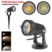 New Style IP68 Outdoor Garden LED Light 220V 110V 5W COB LED Lawn Spike Light Pond Path Landscape Spot Light Bulbs Free Shipping