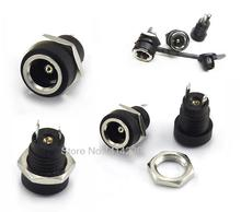 Buy 5P DC-022B All-Copper Material DC Power Supply Jack Socket Female Panel Mount Connector 5.5mm 2.1mm Waterproof Cap DC022B for $1.38 in AliExpress store