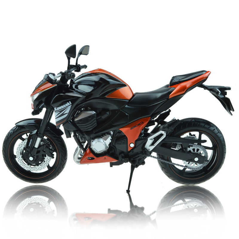 Free Shipping Brand New Cool 1/12 Scale Kawasaki Z800 Super Motorbike Diecast Metal Motorcycle Model Toy For Children Gift(China (Mainland))