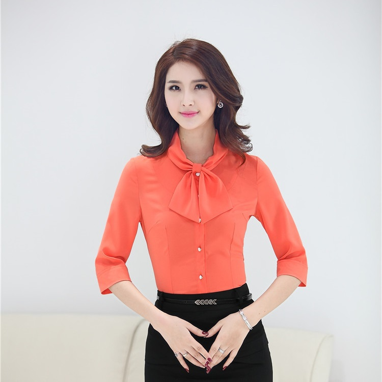 Women'S Blouses And Orange Formal 2
