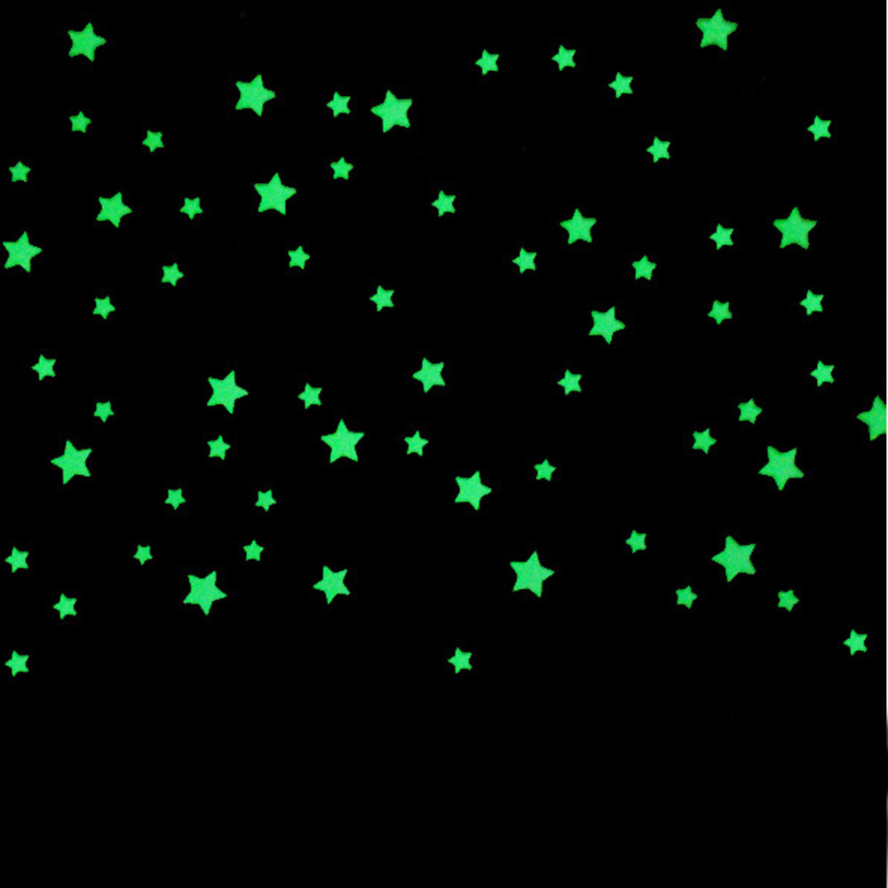 100Pcs stars Luminous stickers Gift for Children Removable Wall Sticker DIY Home Decor for Bedroom glow in the dark stickers(China (Mainland))