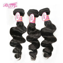 """Peruvian virgin hair Loose Wave Hair Extension 3pcs/lot (12""""-28"""") Cheap Price Berrys Beauty Hair Berrys Fashion Products(China (Mainland))"""