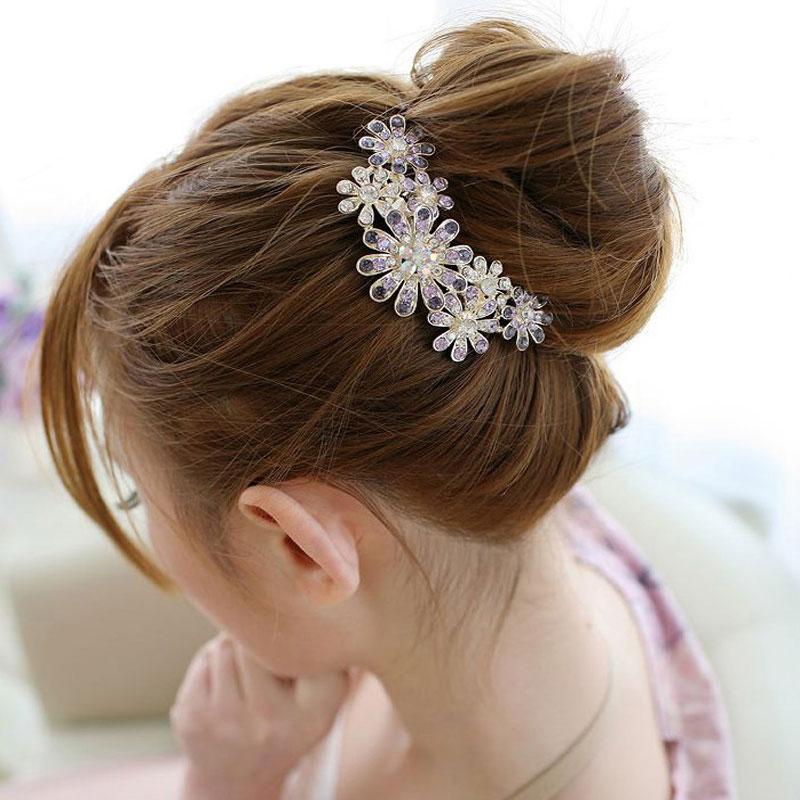 1PCS Haedwear Fashion Bridal Wedding Crystal Rhinestones Women Hair Comb Hair Clip,Jewelry Hair Accessories Beautiful Hairpins(China (Mainland))