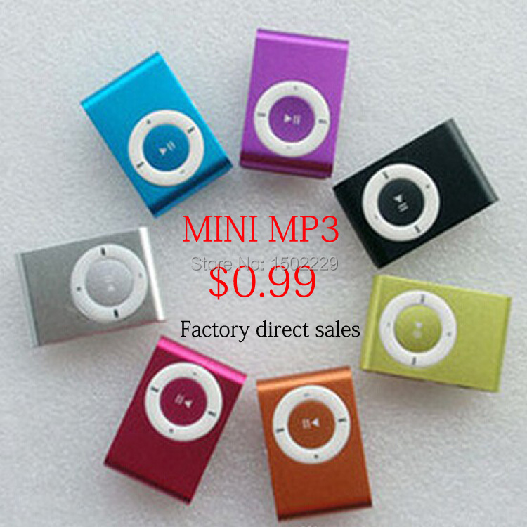 Free Ship High Quality MINI Clip MP3 Player With Micro TF/SD Card Slot sports mini MP3 Only mp3 (Without Headset , without USB)(China (Mainland))